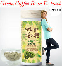 Skinny Girlz Diet Pure Green Coffee Bean Extract 500mg x 90Tablets Lose Weight