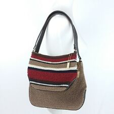 TWO The Sak Handbags Purses Crochet Brown Multi Color Stripes Fall Fashion