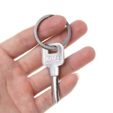 35mm Titanium Alloy Key Ring Circle Split Hanging Buckle Travel EDC Keychain DIY