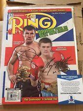 Ricky Hatton & Joe Calzaghe Signed Boxing Ring Magazine - Beckett Authentic