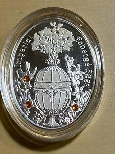"2012 Niue 1 Dollars Faberge Proof Silver Egg ""Lily"" Swarovski Crystal!"