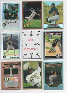 Oakland Athletics A's  SERIAL #'d Rookies Autos Jerseys ALL CARDS ARE GOOD CARDS