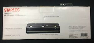 Staples One Touch Professional 3-hole Punch