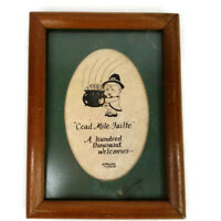 Cead Mile Failte Framed Matted Calligraphy A Hundred Thousand Welcomes Picture