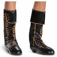 Disney's Frozen 2 Anna Child Halloween Costume Girls Black Boots Shoes Size 4-13