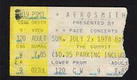 1978 AC/DC Journey Aerosmith concert ticket stub Houston Tex  Powerage Bon Scott