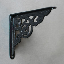 "5"" x 4"" ANTIQUE CAST IRON VICTORIAN SHELF WALL BRACKET BLACK WHITE PEWTER - BR02"