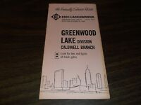 OCTOBER 1960 ERIE LACKAWANNA FORM 8 GREENWOOD LAKE CALDWELL BRANCH TIMETABLE