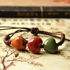 Pure Handmade Ceramic Adorn Article Color Glaze Ceramic Bracelet National Wind