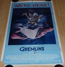 GREMLINS 1984 ORIGINAL ROLLED 1 SHEET MOVIE POSTER PHOEBE CATES ZACH GALLIGAN