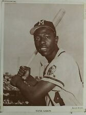 Hank Aaron Milwaukee Braves HOF Vintage 8x10 Baseball Baseball Monthly Photo
