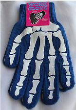 New Blue White Punk Skeleton Gothic Mens Work Gloves Bones Accessories Christmas