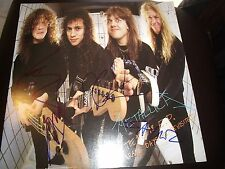 """METALLICA SIGNED RECORD FLAT TITLED """"GARAGE DAYS REVISITED"""" ALL 4 MEMBERS RARE!"""