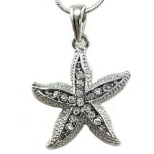 Starfish Charm Bridal Bridesmaid Wedding Flower Girl Pendant Necklace n880