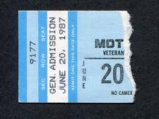 1987 Motley Crue concert ticket stub Phoenix AZ Girls Girls Girls Tour