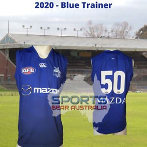 2020 North Melbourne Kangaroos AFL TRAINING Player Issue Guernsey BLUE