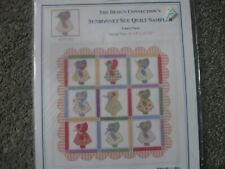 New listing Sunbonnet Sue Counted Cross Stitch Sampler with embellishments