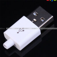 10PCS Male USB Connector Kit 5P USB 2.0 Plug Type-A DIY Components White