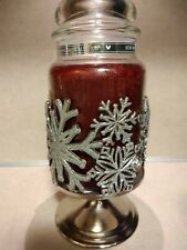 BBW Snowflake Silver Glitter Holder fits Yankee Candle Large Jar NWT