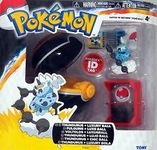 Tomy Pokemon Thundurus + Luxury Ball Catch 'N' Return PokeBall + ID Tag - NEW