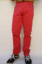 Jeckerson Mens Jeans Cherry Made in Italy Vintage Cotton Straight leg Italy W31