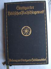 Stuttgarter Biblisches Nachschlagewerk 1931 Bibel Christentum Konkordanz