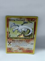 Proxy Shining Charizard Glurak Pokemon Card with Silver Foil effect