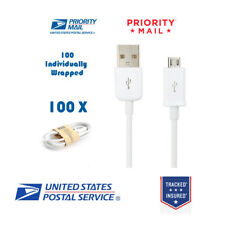 Wholesale Bulk 100 pcs White Micro USB Charger Cable Cords for Samsung LG HTC