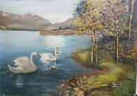 Huile sur Toile JEAN MILO 1906-1993 Tableau Paysage Impressionniste Peinture
