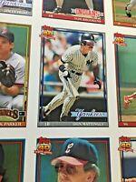 1991 Topps Baseball Uncut Sheet Don Mattingly Tom Glavine Molitor Unique Gift