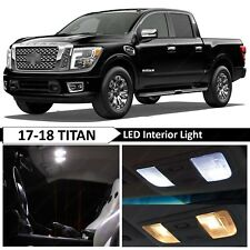 White Interior Map Dome LED Lights Package Kit Fit 2017-2018 Nissan Titan Truck
