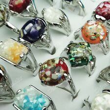 2014 New Arrival 10pcs Mix Natural Shell Women Mens Rings Wholesale Jewelry Lots