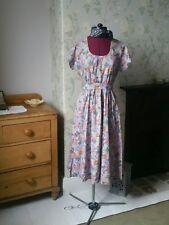ladies vintage dresses size 10 floral midi dress summer clothing short sleeves