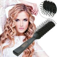 Pro Anti-Static Hair Comb Brush Ribs Hairbrush Salon Hair Care Styling Tool