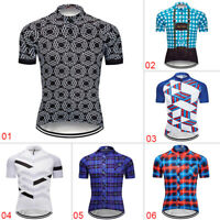 Men's Summer Short Sleeve Cycling Jersey Bike Riding Tops Shirt Outfits Clothing