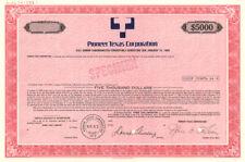Pioneer Texas Corporation - Bond