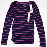 New NWT Maternity Clothes Top Long Sleeve Shirt Liz Lange Size Sz XS Navy Stripe