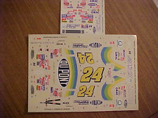 1998 JEFF GORDON #24 DUPONT 1/24 -1/25 SCALE  WATER SLIDE DECAL SHEET