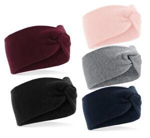 Damen Winter Stirnband Strick Stirnband warm flauschig Ohrenschützer