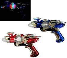 4 Metallic Outerspace Spin Ball Gun toy lightup pistol flashing lights new light