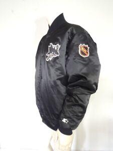 Vintage 1990s SAN JOSE SHARKS Black STARTER Jacket USA MADE Size XXL