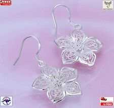 Elegant Silver Plated Hollow Flower Beautiful Dangle Earring Women [A2O~B6]