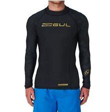 2017 Gul Viper Recore Long Sleeve Thermal Rash Vest - Black Rg0351 Medium