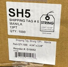 Pack Of 1000 Shipping Tags 4 34x 2 38 Pre Wired Manila