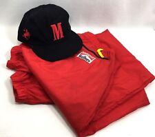 Marlboro Nylon Jogger Pants Adventure Team Red L Cowboy Rider Logo Baseball Hat