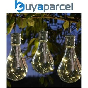 6 x Smart Garden Eureka Hanging Solar Light Bulb Lantern Tree LED 1080920