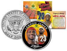 LEBRON JAMES Colorized JFK Kennedy Half Dollar U.S. Coin * ROOKIE * LICENSED *