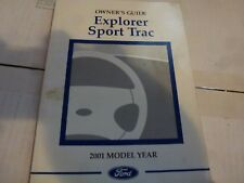 FORD EXPLORER SPORT TRAC 2001  Owners manual SAME DAY SHIPPING