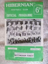 1966 Hibernian v Nottingham Forest, 6 Aug (Challenge Match,No.1 Handbook Edition