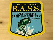 B.A.S.S. Member Sticker, Bass Anglers Sportsman Society Of America, Very Cool